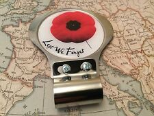 Red Enamelled Poppy Grille Car Badge with Grille Fixings British Legion 1 Decal
