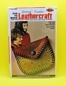Leathercraft Fun To Make Indian Head Coin Purse Old Store Stock 1976