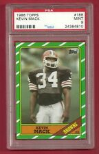 1986 TOPPS #188 KEVIN MACK ROOKIE RC PSA 9 MINT LOW POP ONLY 9 HIGHER BROWNS