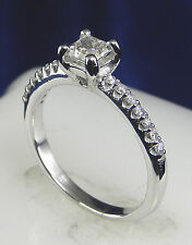.67 CT Total Weight Genuine Diamond Ring – 14KT White Gold