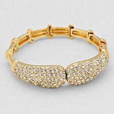 Precioso Oro Cristal cóctel Pulsera de cierre magnético por rocas Boutique
