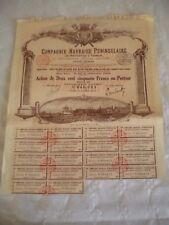 Vintage share certificate Stocks Bonds Havraise Peninsulaire steam navigation