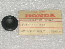 1973-1974 Honda TL 125 Trials Front Fork Bolt Rubber Cap OEM NOS 51408-355-000