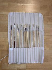Pinselset (15Teile), Inclusive Rolletui, wenig benutzt