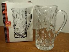 RCR Leaded Crystal 50 oz. Laurus Pitcher NIB Made Italy GREAT GIFT