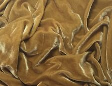 "Silk VELVET Fabric GOLD 9""x22"" remnant"