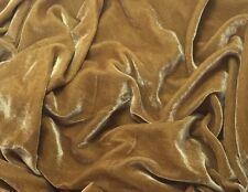 """Silk VELVET Fabric HONEY GOLD 6""""x22"""" remnant"""
