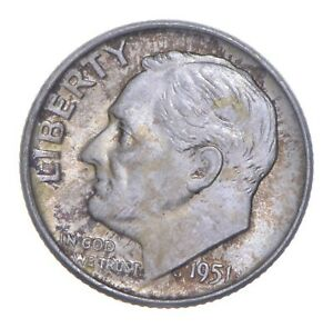 1951-D Roosevelt Dime - Charles Coin Collection *817