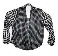 Peter Morissey Women's Long Sleeve Black/White Shirt Size 18
