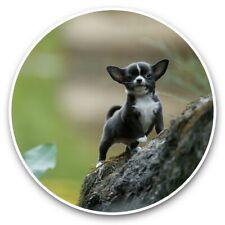 2 x Vinyl Stickers 30cm - Small Black Chihuahua Puppy Dog  #46313