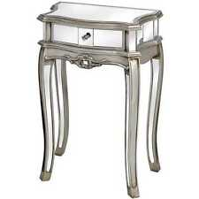 Argente Mirrored 1 drawer lamp table / side table