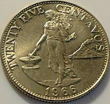 1966 Philippines Twenty Five Centavos  #307