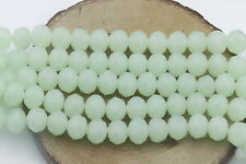 DIY Wholesale50PCS Apple Green Crystal Glass Bead Round Loose Spacer Beads 6mm