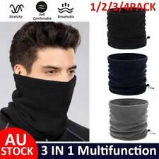 Face Mask Cover Winter Fleece Scarf Neck Gaiter Warm Hat Balaclava Beanie Snood