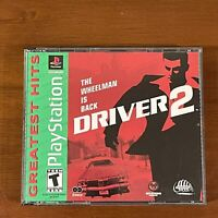 Driver 2 (Sony PlayStation 1, 2000) PS1 PSX Complete Black Label Tested!!!