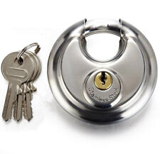 HEAVY DUTY WEATHERPROOF STAINLESS DISC PADLOCK 70MM ** KEYED ALIKE X 7 LOCKS **