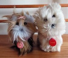 AMERICAN GIRL PUPPIES SUGAR AND COCONUT WITH ORIGINAL COLLARS YORKIE AND WESTIE