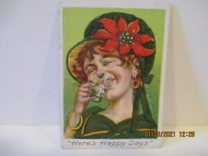 "T114 Fore 'n' Aft Tobacco Card ""Here's Happy Days"""