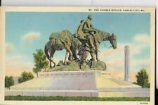 the pioneer mother ,kansas city mo,postcard 1940s era
