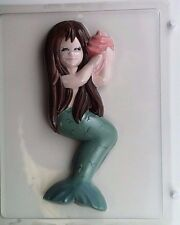 LARGE MERMAID HOLDING SHELL CLEAR PLASTIC CHOCOLATE CANDY MOLD AO018