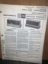 Motorola Table And Clock Radios -Model TC27E & TT16E- Schematics, Parts List.