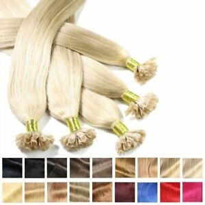 Keratin Bondings Hair Extensions Indian Remy human hair strands hair extension