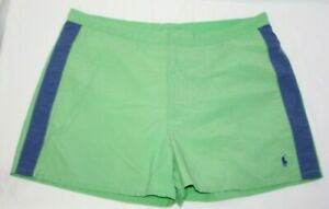 Polo Sport Ralph Lauren Men's Swim Short Trunks Green Navy Blue Surf Size 34