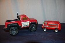 1979 Vintage Toy Tonka Van & Tonka Truck 122 Metal & Plastic 2 Play Vehicles