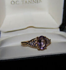 He went to Jared 10K Yellow Gold 1.5ct oval Purple Amethyst & Diamond ring