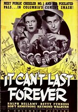 IT CAN'T LAST FOREVER pressbook, Ralph Bellamy, Betty Furness, Rob't Armstrong