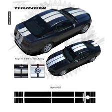 Ford Mustang 2013 up Bumper to Bumper Rally Stripes Graphic Kit - Gloss Black