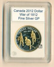 2012 War of 1812 Gold Plated .9999 Fine Silver $1 Coin (OOAK)