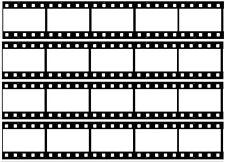 4 x Film Reel Edible ICING Sheet