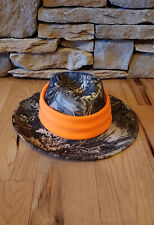 Handmade safety orange hunting interchangeable waterproof hat band stretchy