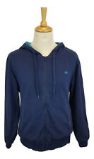 Q090 The Savile Row Company Mens Blue Casual Hooded Top Jacket, Large
