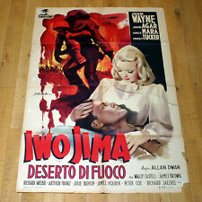 IWO JIMA manifesto poster affiche John Wayne Marines World War Sands of 1949
