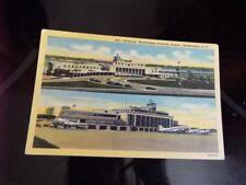 2 Views Terminal Planes Washington National Airport Washington DC  Vintage PC d