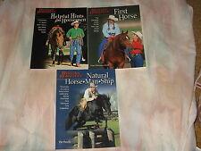 lot of 3 Western Horseman Books Natural Horse-Man-Ship, First Horse, Helpful Hnt