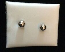 NEW IN BOX. WHITE GOLD BALL STUDS