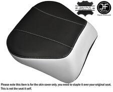 WHITE & BLACK CUSTOM FITS HARLEY BRAKEOUT 13-16 SUNDOWNER REAR SEAT COVER