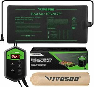 VIVOSUN Seedling Propagation Heat Mat +Digital temperature controller Thermostat