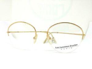 Essilor Frames Glasses Real Vintage Ages 80 Man Woman Gold France