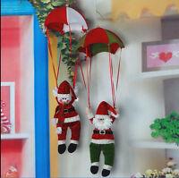 Santa Claus Snowman Parachute Christmas Tree Hanging Ornament Xmas Decoration US