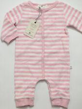 Baby Strampler Overall Schlafanzug cremeweiß mit Stickerei NEU mit Etikett