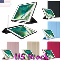 New iPad 2018 9.7 inch Tablet Slim Magnetic Silicone Smart Cover Case Shockproof