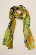 BRAND NEW HANDMADE EXTRA LONG GREEN TIE DYE SCARF SARONG COVER FREE POST //SCL003
