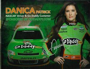 -  DANICA PATRICK - Autographed Driver's Postcard      [b29]