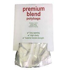 """50 claro Plástico Polietileno Bolsas fuerte embalaje bolsas de polietileno de 12 """"x 15"""" 120gauge"""