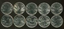 2004 USA US STATE QUARTER COMPLETED SET 5 COINS MI FL TX IW WI UNC