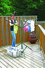 Household Essentials Portable Outdoor Rotary Clothesline Umbrella-Style Dryer
